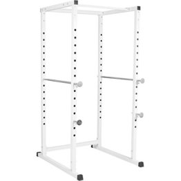 Gorilla Sports Erwachsene Power Cage Kraftstation, Weiß, One Size -