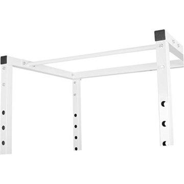 Gorilla Sports Erwachsene Power Cage Kraftstation, Weiß, One Size -