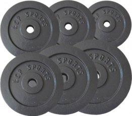 Premium Gusseisen Hantelscheiben Gewichte Sets 2,5 kg 5 kg 7,5 kg 10 kg 15 kg 20 kg, Gewichte:2 x 5 kg + 2 x 10 kg -