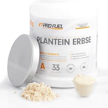 PROFUEL® Plantein Erbse │ Hochwertiges Veganes Erbsenprotein Isolat mit essentiellen Aminosäuren │ Der perfekte vegane Protein-Shake │ Glutenfrei, Laktosefrei │ Proteinpulver Vegan 1 kg Beutel - VANILLA -