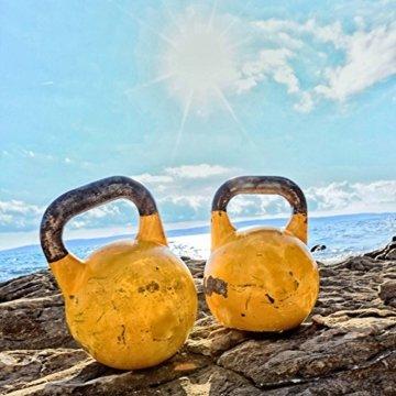 2er-Set KettleBell »Kylon« Kugelhantel bis zu 30kg Gesamtgewicht / Handgewicht 100% Eisen mit Neoprenoberfläche / High Performance Studio-Qualität ideal Krafttraining, Gymnastik und Heimtraining! 10kg (navyblau) und 6kg (grün) -