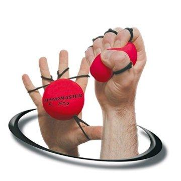 Handmaster Plus Handtrainer Fingertrainer Unterarmtrainer, mittel, ROT -