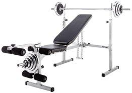Kettler Hantelbank Axos Weight Bench, Grau/Schwarz, 07629-900 -