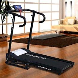 Motorisiertes Laufband 500W mit LCD-Display Elektrisches Fitnessgerät Klappbarer Heimtrainer -