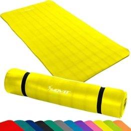 MOVIT Pilates Gymnastikmatte, phthalatfrei, SGS geprüft, L 190cm x B 100cm bzw 60cm, Stärke 1,5cm, Yogamatte, 12 Farben -