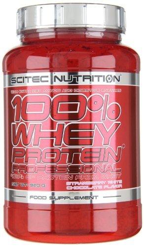 Scitec Nutrition Whey Protein Professional Erdbeer-Weiße Schokolade, 1er Pack (1 x 920 g) -
