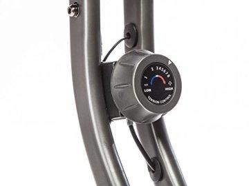 skandika Foldaway X-1000 Fitnessbike zusammenklappbar mit Multifunktionscomputer, Handpulssensoren, 8-stufige manuelle Widerstandseinstellung und Transportrollen, grün -
