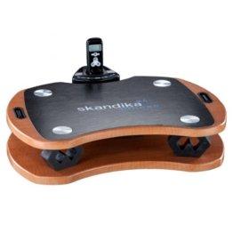 skandika Home Vibration Plate 300, robuste Heim Vibrationsplatte in Holzoptik mit leistungsstarkem DireDirectDrive-Antriebssystem und kraftvollen 3D Vibrationen, braun/schwarz -
