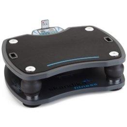 skandika Home Vibration Plate 500, Profi Vibrationsgerät, inklusive Trainingsbänder mit großer rutschsicheren Trainingsfläche, Fernbedienung und kraftvoller 3D-Vibration, anthrazit/schwarz -