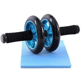 Songmics Bauchtrainer Roller AB Wheel mit Knie Pad Blau SPU75P -