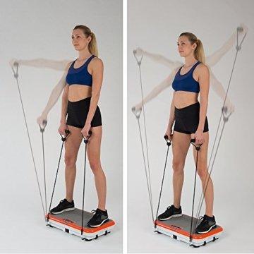 Vibro Shaper Vibrationsplatte Ganzkörper Trainingsgerät rutschfest große Fläche inkl Trainingsbänder Ernährungsplan das Original von Mediashop -