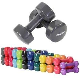 Vinyl Hantel Paar Ideal für Gymnastik Aerobic Pilates 0,5 kg - 10 kg | Kurzhantel Set in versch. Farben (2 x 10 kg) -