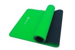 """Yogamatte """"Yoga Star"""" von Sportastisch :: Farbe GRÜN :: 100% ökologisch abbaubares TPE Material :: extra breit: 181 x 61 x 0,6 cm :: Innovativer 2-Phasen Aufbau für perfekten Halt :: 2 Oberflächen mit unterschiedlichen Farben und Strukturen :: geprüfte Markenqualität, ideal Einsteiger oder Profis :: exzellent geeignet für Yoga, Pilates und Gymnastik :: Exklusives Design :: Absolut RUTSCHFEST :: BONUS: eBook rund um das Yogatraining :: inklusive 3 Jahren Sportastisch Produktgarantie -"""