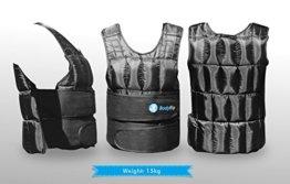 BodyRip Komfort Gepolstert Deluxe 2.0Gewicht Weste 5kg 10kg 15kg 25kg 30kg One Adjustable Size -