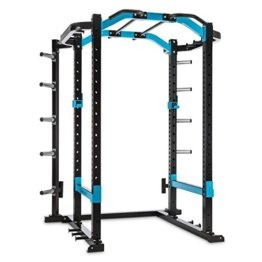 CAPITAL SPORTS Amazor P Power Rack Fitness Kraftstation Multifunktionstrainer (2x Safety Spotter, 2x J-Cups, 2x Hantelstangenaufnahmen, Stahl) schwarz -