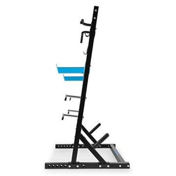 CAPITAL SPORTS Racktor Half Rack Langhantel Hantelstation Multistation Kraftstation Langhantelablage Langhantel- und Gewichtsscheiben-Ständer (2 J-Hooks, 2 J-Hooks, Klimmzugstange, 4x 31 mm Hantelscheiben-Halter inkl. Klemmfeder, 2x 50mm Aufnahme) schwarz -