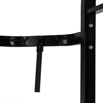 CAPITAL SPORTS Xtrakter Kabelzugbrücke Kabelzugstation (zweiseitiger Kabelzug, zwei Türme mit je 90 kg Maximalgewicht, Cable Cross, Curls, Rudern, Klimmzugstange) schwarz -