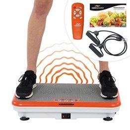 Vibro Shaper Vibrationsplatte Ganzkörper Trainingsgerät rutschfest große Fläche inkl Trainingsbänder Ernährungsplan das Original von Mediashop - 1